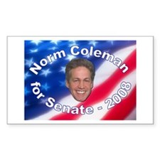 """Norm Coleman 2008"" Rectangle Decal"
