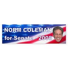 """""""Norm Coleman 2008"""" Bumper Bumper Sticker"""