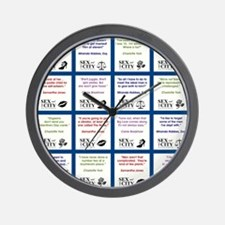 SATC COLLAGE (BLUE) Wall Clock