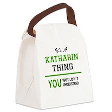 Cute Katharine Canvas Lunch Bag