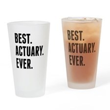 Best Actuary Ever Drinking Glass