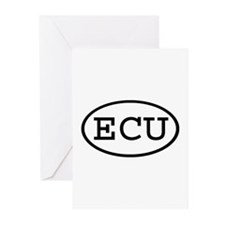 ECU Oval Greeting Cards (Pk of 10)