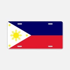 Flag Philippines Aluminum License Plate