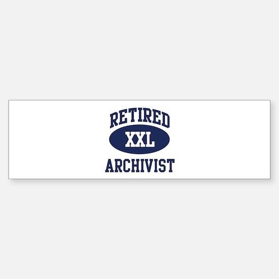 Retired Archivist Bumper Car Car Sticker