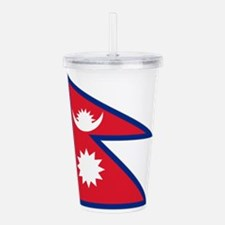 Nepalese flag Acrylic Double-wall Tumbler