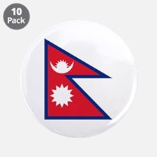 """Nepalese flag 3.5"""" Button (10 pack)"""