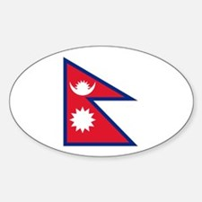 Nepalese flag Sticker (Oval)