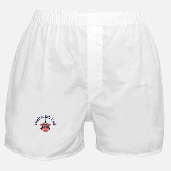 LIVE HARD RIDE HARD Boxer Shorts