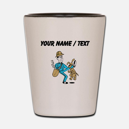 Custom Mailman Shot Glass