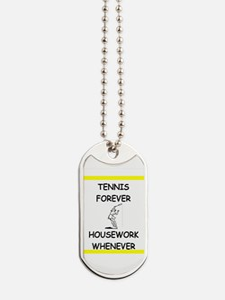 Cute Funny tennis Dog Tags