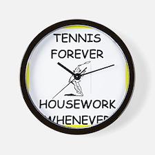 Cute Tennis player Wall Clock