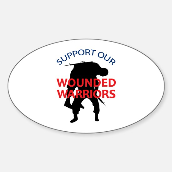 SUPPORT WOUNDED SOLDIERS Decal
