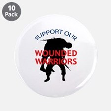 "SUPPORT WOUNDED SOLDIERS 3.5"" Button (10 pack)"