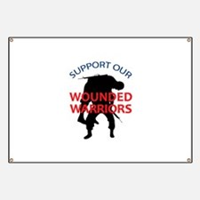 SUPPORT WOUNDED SOLDIERS Banner