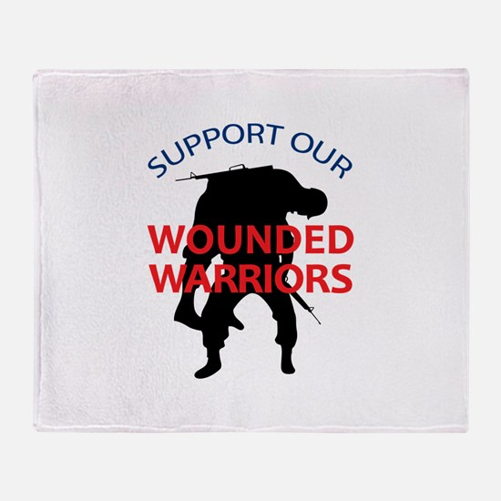 SUPPORT WOUNDED SOLDIERS Throw Blanket