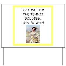 Cute Tennis Yard Sign