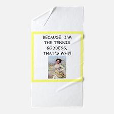 Funny Funny tennis Beach Towel
