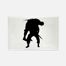 WOUNDED SOLDIER Magnets
