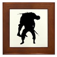 WOUNDED SOLDIER Framed Tile