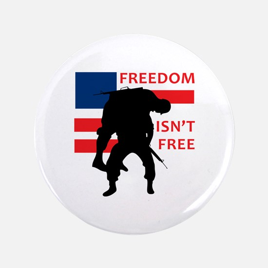 "FREEDOM ISNT FREE 3.5"" Button"