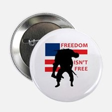 """FREEDOM ISNT FREE 2.25"""" Button (10 pack)"""