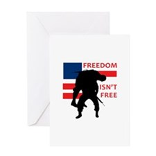 FREEDOM ISNT FREE Greeting Cards