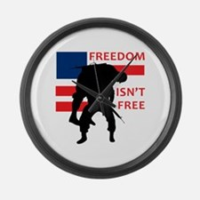 FREEDOM ISNT FREE Large Wall Clock