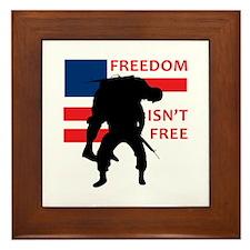 FREEDOM ISNT FREE Framed Tile