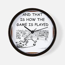 soccer joke Wall Clock
