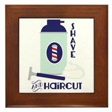 Shave And Haircut Framed Tile