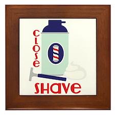 Close Shave Framed Tile