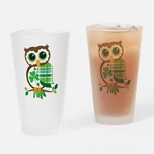 St Patrick's Day Owl Drinking Glass
