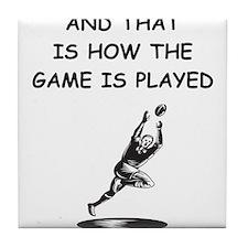rugby joke Tile Coaster