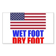 Wet Foot Dry Foot Decal