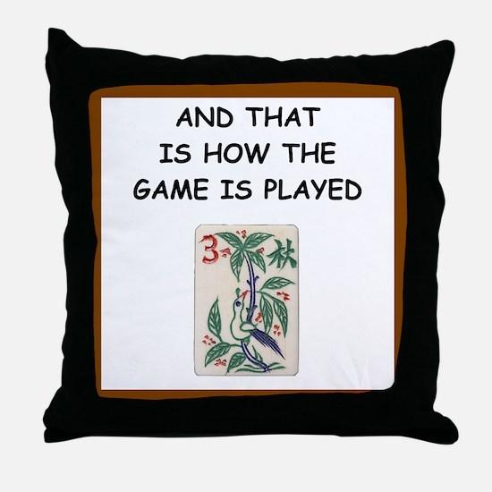 mahjong joke Throw Pillow