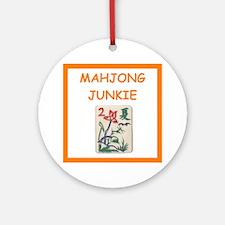 Mahjong Joke (round) Round Ornament