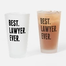 Best Lawyer Ever Drinking Glass