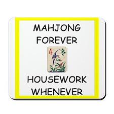 mahjong joke Mousepad