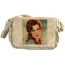 vintage girl Messenger Bag