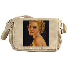 retro vintage girl Messenger Bag