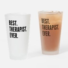 Best Therapist Ever Drinking Glass