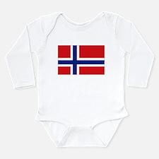 Norway flag Long Sleeve Infant Bodysuit