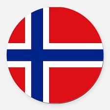 Norway flag Round Car Magnet