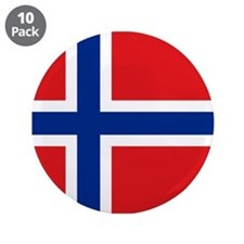 "Norway flag 3.5"" Button (10 pack)"
