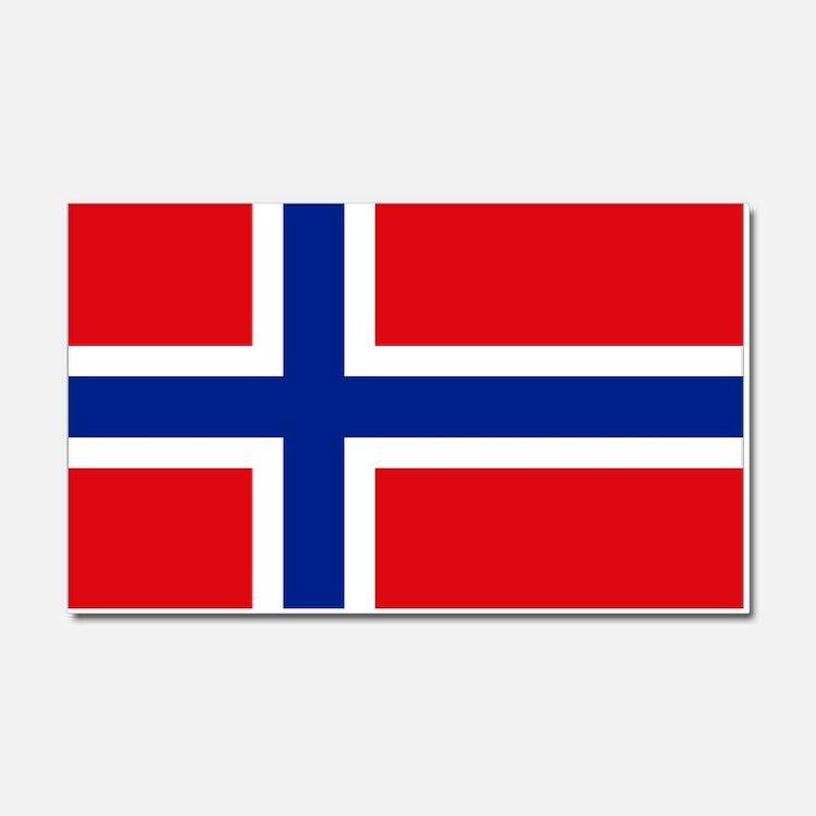 Norway flag Car Magnet 20 x 12