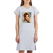 cute vintage girl Women's Nightshirt