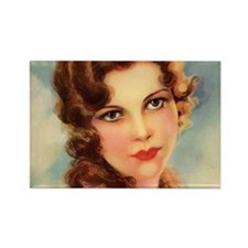 cute vintage girl Magnets