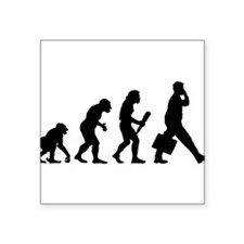 "Cute Funny chimp Square Sticker 3"" x 3"""