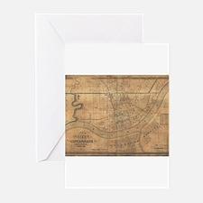 Cincinnati ,Ohio 1838 antiqu Greeting Cards (Pack