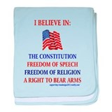 God and guns Baby Blankets